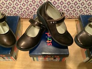New Stride Rite BROOKLYN Girls Mary Jane shoes brown patent toddler 10 10.5 12