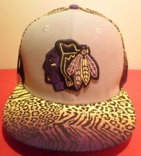 CHICAGO BLACKHAWKS New Era 59FIFTY  Animal Print Prototype  Fitted Hat NWT 7 1/2