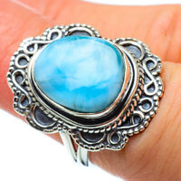 Larimar 925 Sterling Silver Ring Size 6.5 Ana Co Jewelry R32856F