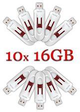LOT 10x SanDisk 16GB Cruzer GLIDE USB Flash Drive 10 x 16 GB SDCZ60-016G White