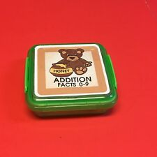 HONEY BEARS - Addition Facts 0-9 Matching Game 48 Cards with Storage box