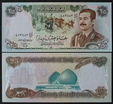 Irak - Iraq - Billet de 25 Dinars Saddam Hussein en Uniforme de 1986 Neuf - Unc