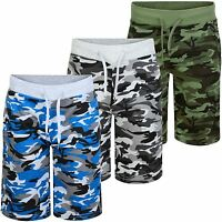 Kids Jersey Camo Shorts Boys Summer Bottoms Elasticated Waist Pants 3-14 Years