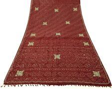 Vintage Saree 100% Pure Georgette Silk Bandhani Print Beaded Mirror Work Fabric