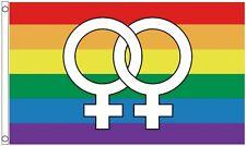 Lesbian Rainbow LGBTQ+ Gay Pride Large Venus 5'x3' Flag