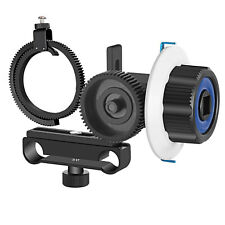 Neewer Follow Focus with Gear Ring Belt for Canon Nikon Sony DSLR-Blue+Black