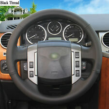 New DIY Sewing-on PU Leather Steering Wheel Cover Exact Fit For Discovery 3