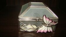 Antique French Jewelry Trinket Box, Casket, Pearl & Chrome