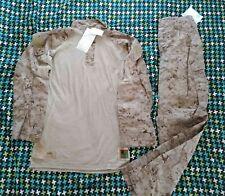 USMC DESERT FROG TOP & PANTS MEDIUM LONG NEW marpat