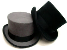 Mens Black OR Gray Top Hat Tophat Topper Coachman sizes S-XXL fully lined