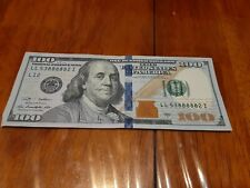 """2009A $100 Bill fancy serial, five of kind repeater Lucky """"88888"""""""