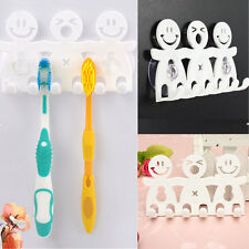 Toothpaste Toothbrush Holder Wall M Hanger Home Bathroom Suction Grip Rack 3U2