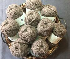 ROWAN British Sheep Breeds Boucle Knitting Crochet Yarn 222 Brown Pack 10 Balls