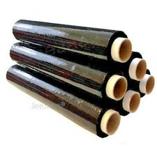 Extra Strong Black Pallet Stretch Shrink Wrap Film 500mm x 250m 25mu x 24 Rolls