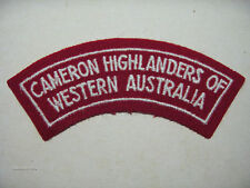 INSIGNE BADGE AUSTRALIE CAMERON HIGHLANDERS OF WESTERN AUSTRALIA