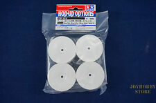 Tamiya 53914 RC White Dish Wheel 4pcs - 26mm Width Offset 0