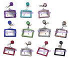 Rhinestone Retractable Badge Reel and Horizontal ID Card Holder Combo Set