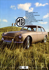 MG MGC GT RETRO POSTER A3 PRINT FROM CLASSIC 60'S ADVERT