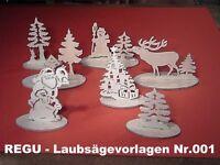 """124  Schwibbogen /""""Schneewittchen /& die sieben Zwerge/"""" Laubsägevorlage Nr REGU"""