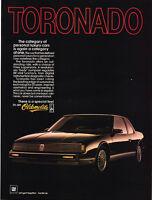 "1986 Oldsmobile Toronado photo ""Never Be Conventional"" vintage promo print ad"