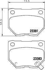 Mintex Rear Brake Pad Set MDB2562  - BRAND NEW - GENUINE - 5 YEAR WARRANTY