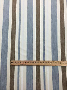 Upholstery Fabric (A16) | Duckegg Blue & Cream Striped Fabric | Price per meter