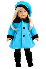 "Parisian Stroll - Doll Clothes for 18"" American Girl, Coat Beret Leggings Boots"
