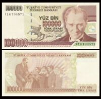 TURKEY 100000 (100,000) Lira, 1997, P-206, UNC World Currency