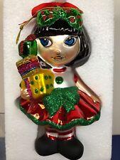 "6.5"" Tonner ""Sew Happy Christmas"" Amelia Thimble Ornament Mint W/ Box #1C"