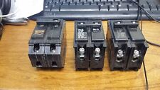 SET of  3 ASSORTED 2 POLE CIRCUIT BREAKERS BR250, BR260, BR220 50, 60, 20 AMP