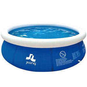 Schwimmbecken Swimming Pool 3m Terrasse Garten Kinder Familie aufblasbar rund