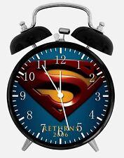 "Superman Super Man Alarm Desk Clock 3.75"" Home or Office Decor Z92 Nice For Gift"