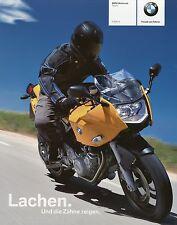 BMW F 800 S Prospekt 2005 11/05 Motorradprospekt brochure broschyr opuscolo moto