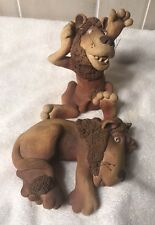 Lions 2 Whimsical Figurines Singled  Victoria Sexton 1982 Art