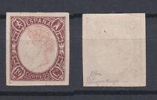 SPAIN 1865 Queen Isabella II 19 Cs Brown Rose Mint * 70 (Mi.64)