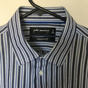 Peter Morrissey French Cuff Long Sleeve Striped Casual Shirt
