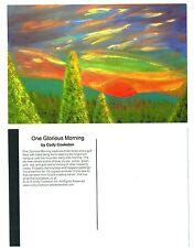 "One Glorious Morning Sunrise Pine Trees Mountain Fine Art Print 4"" x 6"" Postcard"