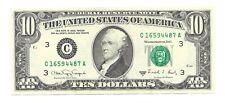 1988A $10 PHILADELPHIA FRN, CRISP & AU/UNCIRCULATED BANKNOTE