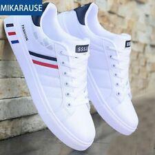 Zapatos Casuales Blancos Zapatillas De Cuero Moda Deportivos Cómodas Para Hombre