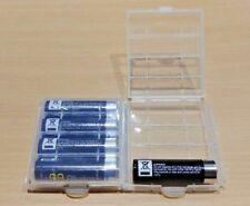 2 PACK - 4 AA or AAA Battery Storage Box - Snap Locks Together