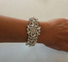Classique Ivoire perle strass Cuff bracelets Mariée Mariages Bal de bal