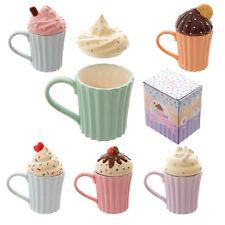 Cupcake Mug | 6 Colours | Removable Lid | Cute | Ladies | Work | Christmas Gift