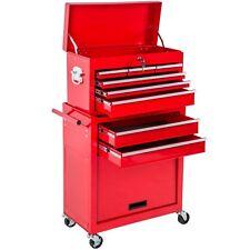 Chariot à outils servante d'atelier caisse coffre malle rangement amovible rouge