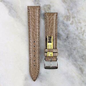Genuine Louisiana Alligator Leather Watch Strap - Taupe - 18mm