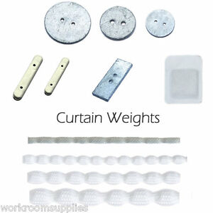 Hem Lead Weight for Curtains & Nets - Penny Stick Oblong x 10 - Tape Per Metre