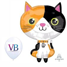 """Calico Cat 18"""" Balloon Birthday Party Decorations"""