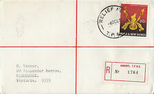 Stamp Papua New Guinea 1969 on cover sent registered AMBUNTI Relief No7 scarce