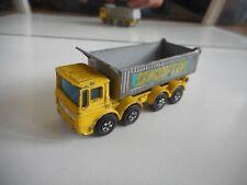 "Matchbox Superfast 8 Wheel Tipper ""Pointer"" in Yellow/Grey"