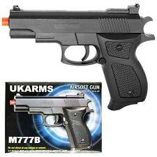 "UK ARMS 6"" Black Plastic Airsoft Pistol Handgun Gun w/ BBs 105fps Air Soft M777B"