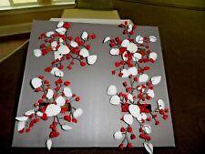 POTTERY BARN Napkin Holders Smoke Crystal - Beautiful Shimmer Beaded -NEW SET 4
